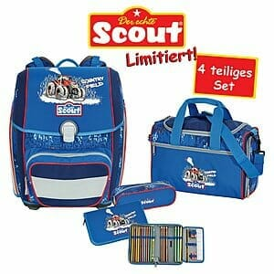 Scout Schulrucksack Genius Country Fields 4 teiliges Set   SC101754