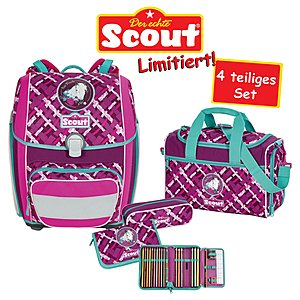 Scout Schulrucksack Genius Best Friends 4 teiliges Set   SC101749