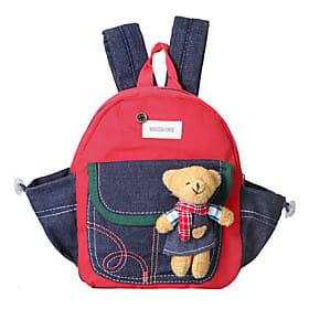 Unisex Taschen Ganzjährig Samt Rucksack Schultasche für Gelb Rot Grün